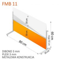 OSLONY BIUROWE DIBOND PLEXI 3 MM FORMEDIA 11