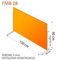 OSLONY BIUROWE DIBOND PLEXI 3 MM FORMEDIA fmb 28