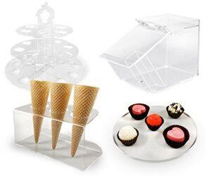 tacki pojemniki na ciastka cukierni wyposazenie z pleksi do sklepu